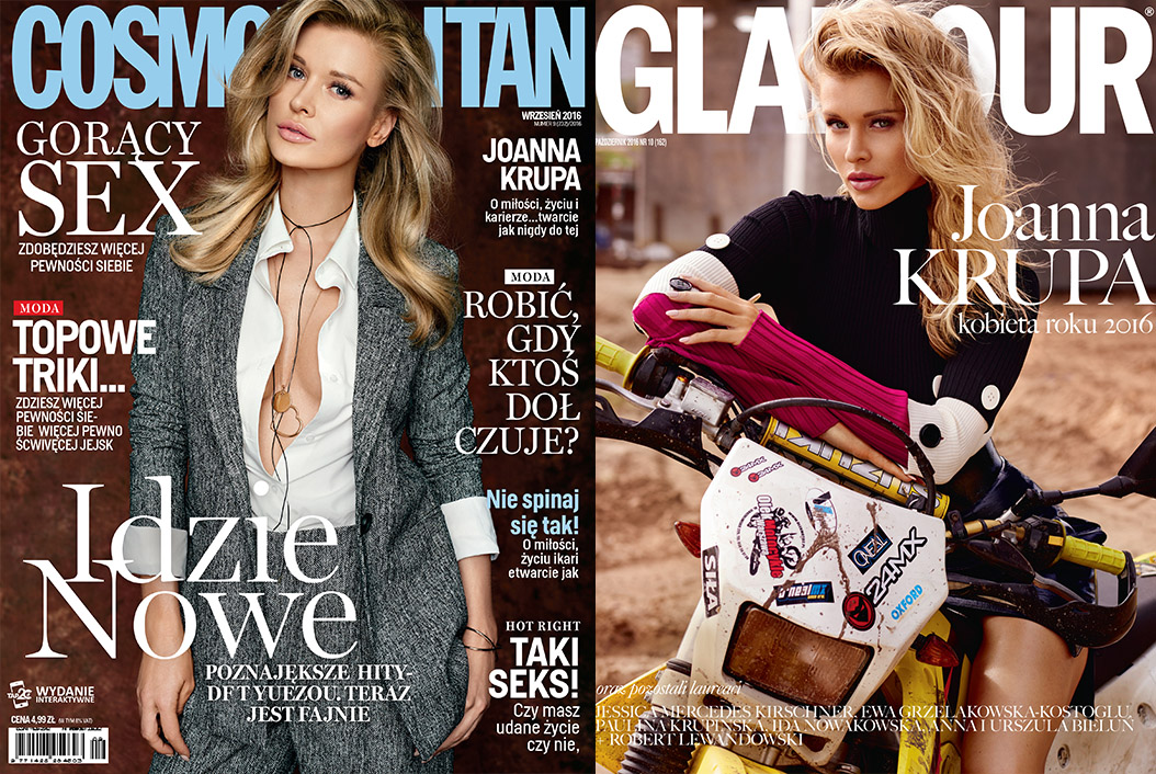 Okładki Glamour & Cosmopolitan