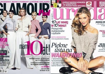 Okładki Glamour & Uroda